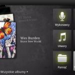 Główna strona odtwarzacza muzyki od Archosa