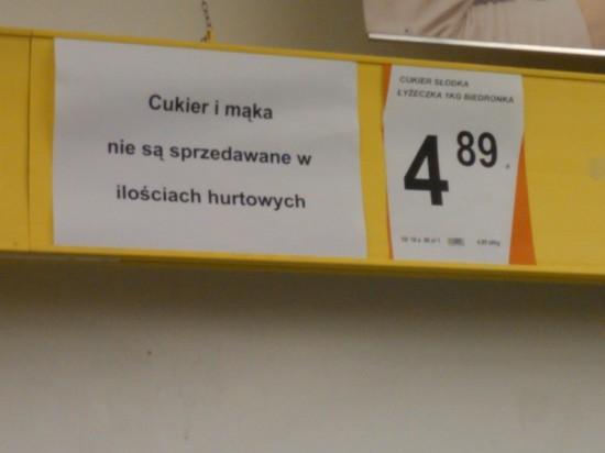 Cukier w Biedronce, Gda?sk-Przymorze