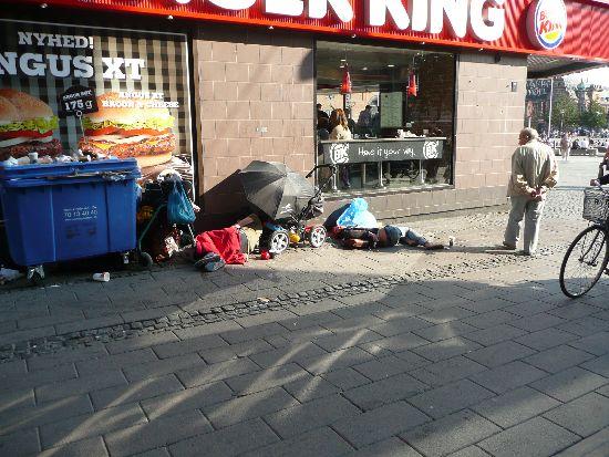 Bezdomni pod Burger Kingiem