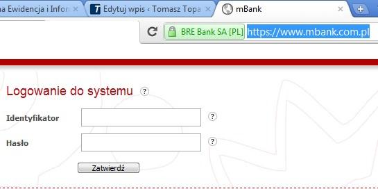 SSL w pasku adresu