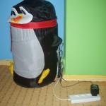 Słit focia z pingwinem