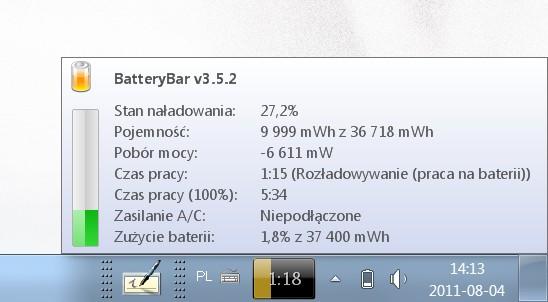 Stan baterii