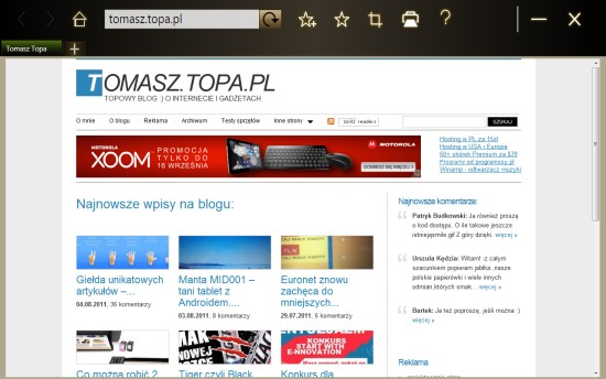 Przegl?darka TouchBrowser