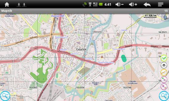 Mapy w Manta MID001 - nawigacja RMaps / Mapnik