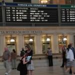 Kasy biletowe i tablica odjazdów