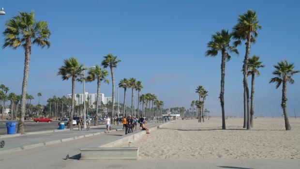 Bulwar nad pla?? w Santa Monica