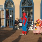 Spiderman w Santa Monica
