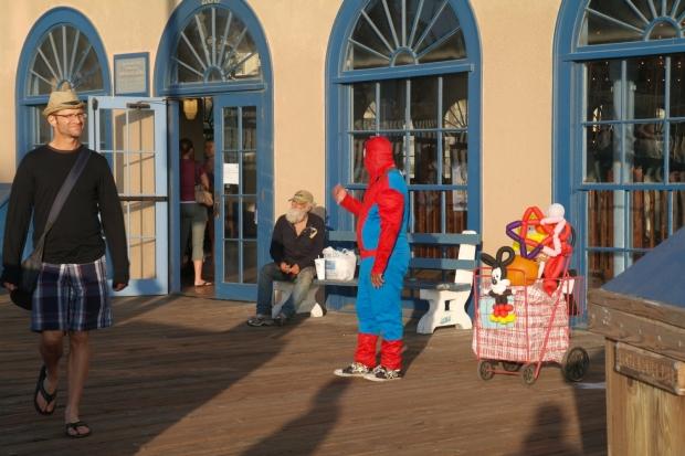 Spiderman w Santa Monica