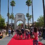 Czerwony dywan przed Universal Studios
