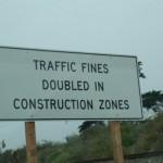 Podwójne kary w miejscach robót drogowych