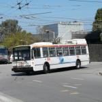 Trolejbus San Francisco, który na widok aparatu urwał się ze smyczy :)