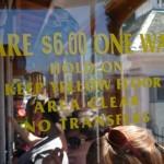 Cena za przejazd tramwajem linowym w San Francisco, 2011