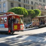 Skrzyżowanie dwóch linii tramwaju linowego