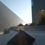 Widok z okna hotelu Luxor