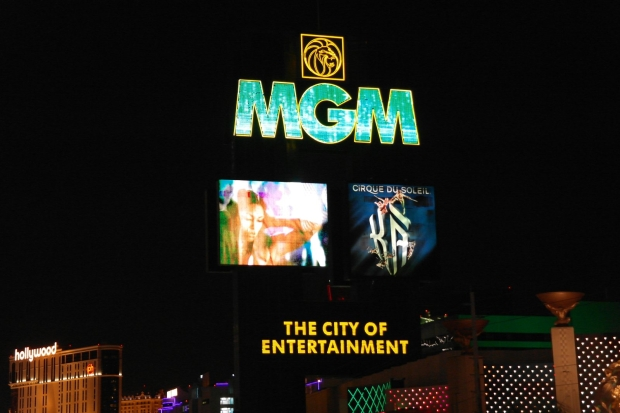 MGM - The City of Entertainment sign