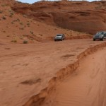 Samochody przed Antelope Canyon