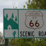 Historic Route 66 Scenic Road sign