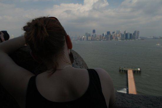 Manhattan widziany z Liberty Island