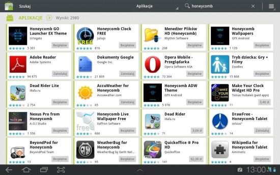Aplikacje w Android Market