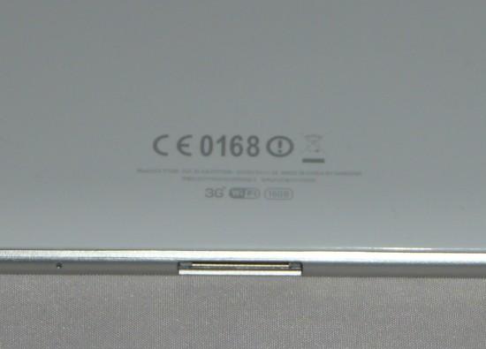 Port w Galaxy Tab z tyłu