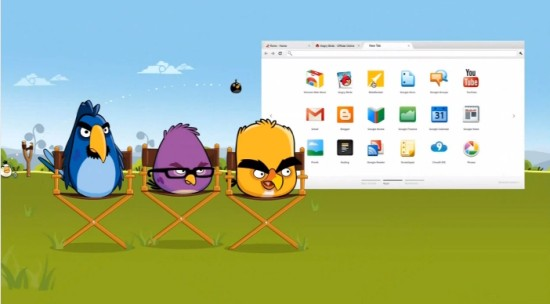 Angry Birds w reklamie Chrome