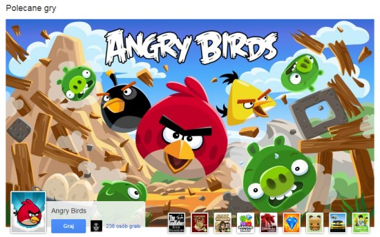 Angry Birds w Google Plus