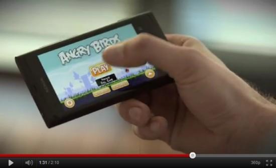 Angry Birds w reklamie Nokii
