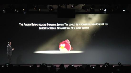 Angry Birds na prezentacji Samsunga
