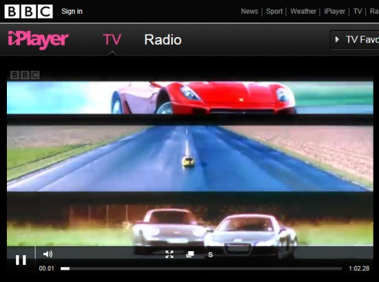 Top Gear na BBC iPlayer