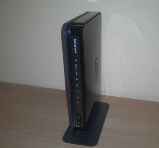 Router ustawiony w pionie