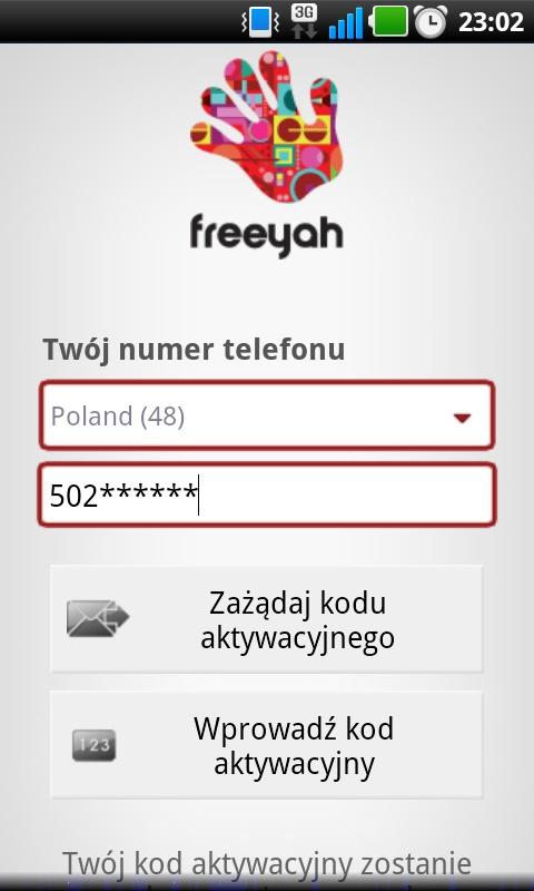 Rejestracja przy pomocy numer tel i SMS