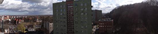 Panorama na Zaroślaku w Gdańsku
