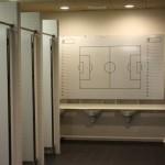 Camp Nou - toalety w szatni