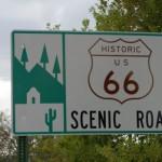 Historic Route 66 Scenic Road sign